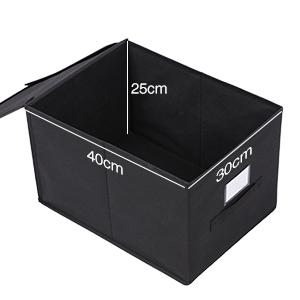 songmics 3 st ck faltbox mit deckel faltbare aufbewahrungsbox stoffbox schwarz 40x30x25cm rfb03h. Black Bedroom Furniture Sets. Home Design Ideas
