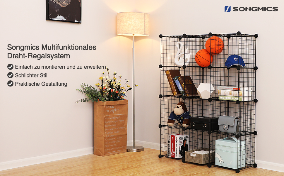 Gemütlich Drahtwürfel Regalsystem Bilder - Elektrische ...