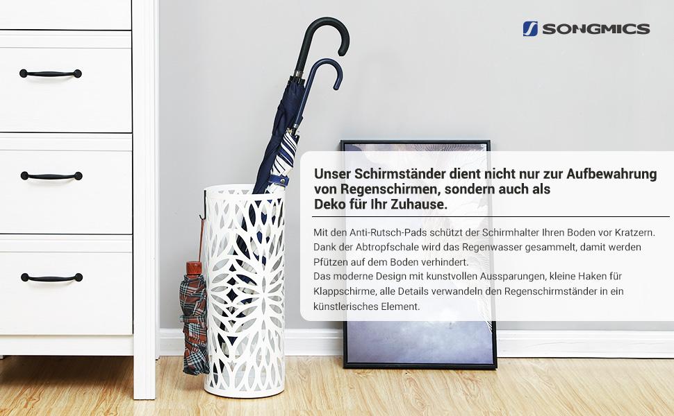 Amazon.de: SONGMICS Regenschirmständer Metall Schirmständer mit ...