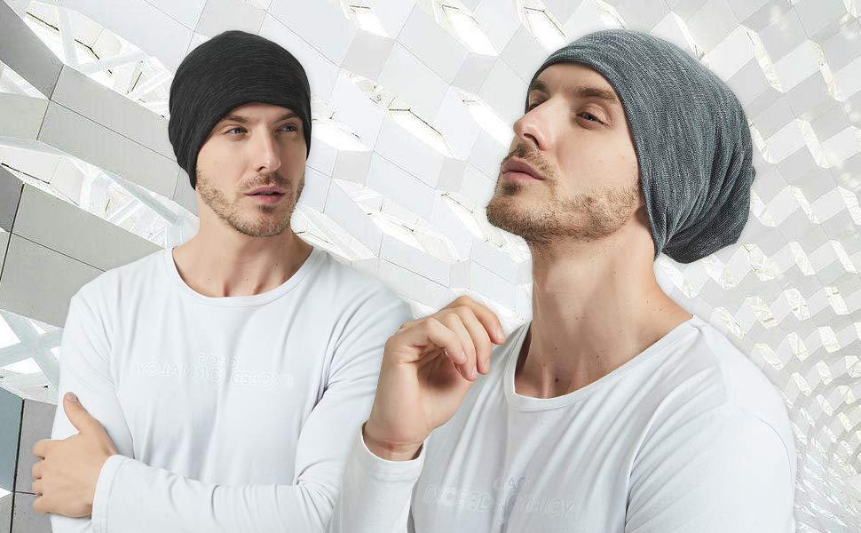 b80073e85dec67 EINSKEY Mützen Herren Damen Sommer Dünn Beanie Kopfbedeckung für Sport,  Chemo, Haarausfall, Schlaf