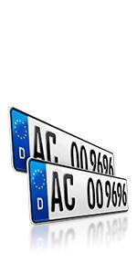 Schildevo 2 Kfz Kennzeichen 460 X 110 Mm Din Zertifiziert Eu Wunschkennzeichen Mit Individueller Prägung Pkw Nummernschilder Kurze Autokennzeichen Auto Schilder Dhl Versand Auto