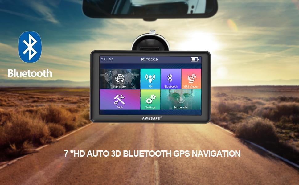 AWESAFE Navigationsgerät 7 Zoll Touchsreen 8GB/256M mit
