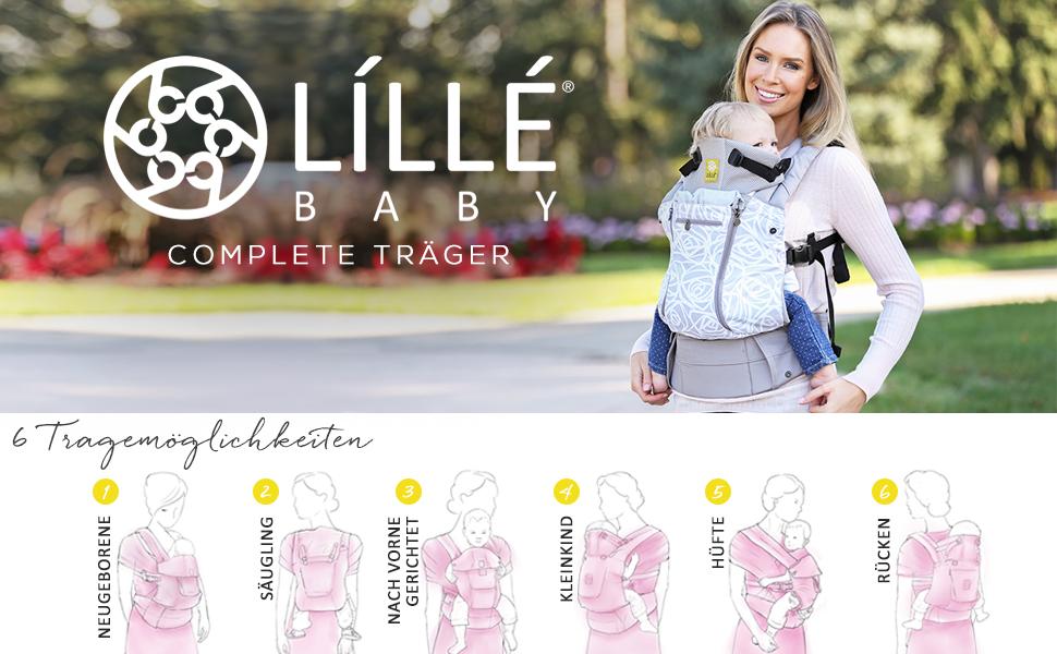 L/ÍLL/Ébaby Complete Pursuit Pro 6-in-1 Babytrage meliert