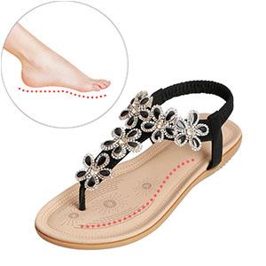 36-41 SALE Damen Sandaletten OH MY SANDALS Sandalen Sommer Flach Gr