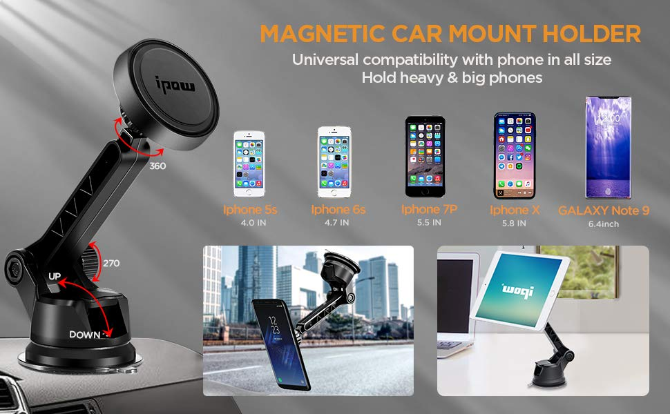 Ipow Magnet Handyhalterung Fürs Auto Mit Stabil Elektronik