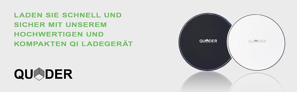 Quder Wireless Charger 10 Watt Für Samsung Kleines Elektronik