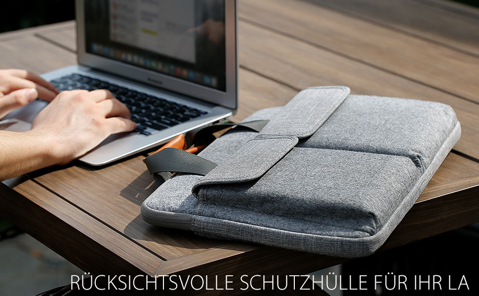 "Inateck 14-14,1"" Graue Laptop-Hülle"
