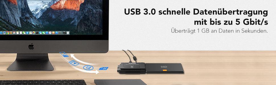 USB 3.0 schnelle Datenübertragung