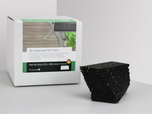 100 x 50 x 8 mm Menge: 50 St/ück Terrassendielen Terrassenpads I gummipad I Unterleger aus Gummigranulat f/ür Terrassenholz