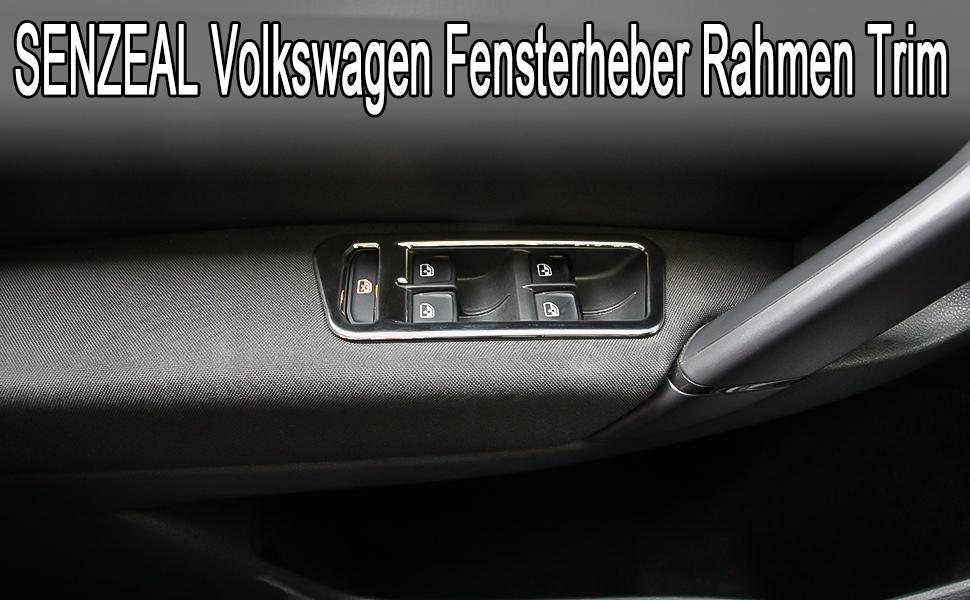 Senzeal 4x Fenster Schalter Rahmen Abdeckung Aufkleber Für V W Golf 7 Auto
