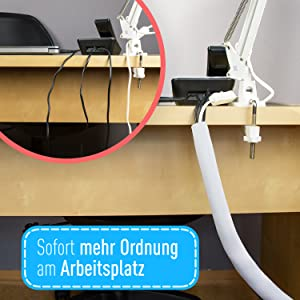 Kabel slang kabelgeleiding tafel kabelgoot flexibele kabelbeschermer kabelslang zwarte kabelmap