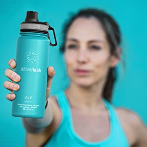 bemaxx fitness active flask thermosflasche trinkflasche edelstahl stainless steel thermoflasche