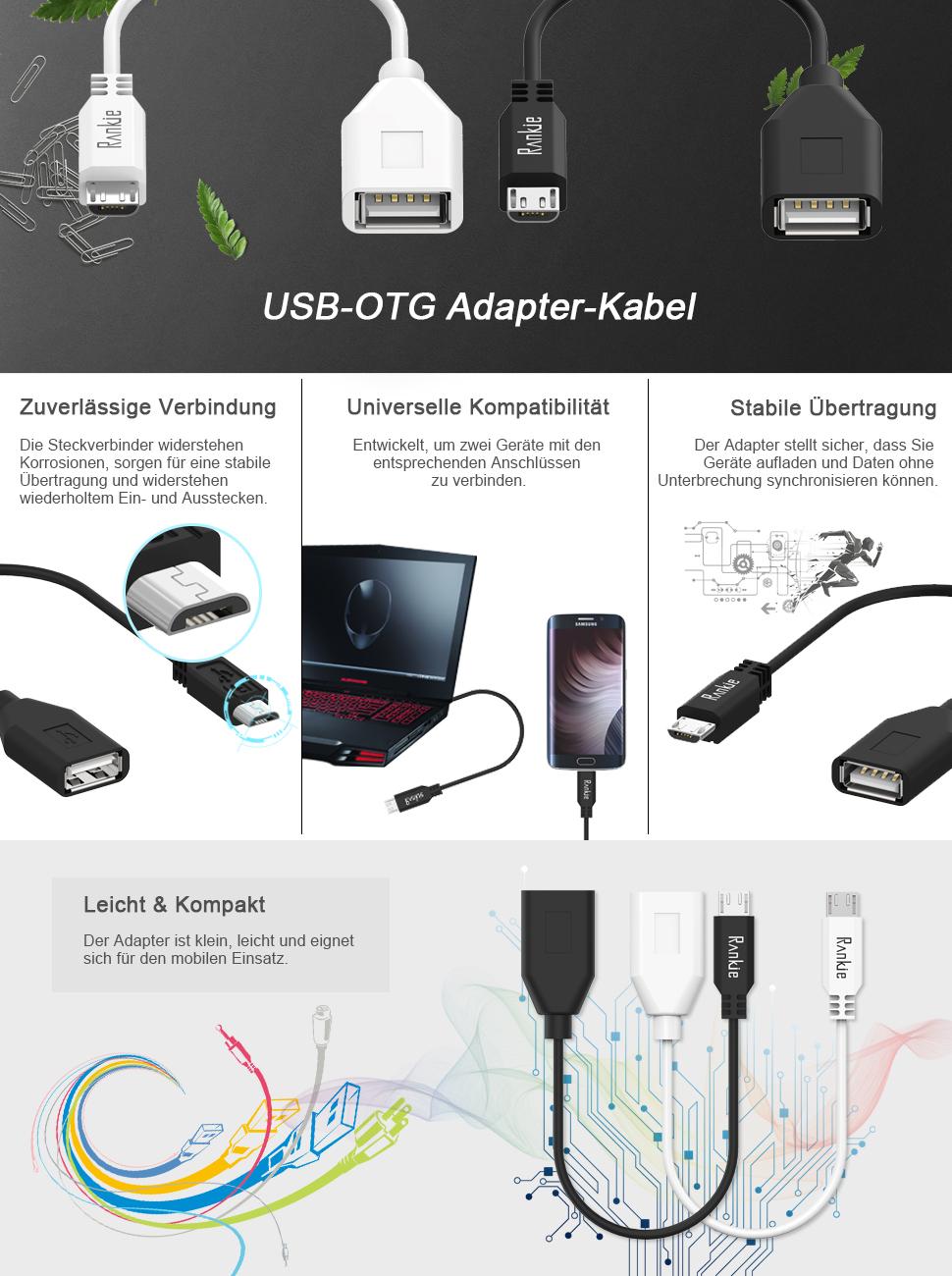 Rankie USB-OTG Adapter für Smartphones, Handy und: Amazon.de: Elektronik
