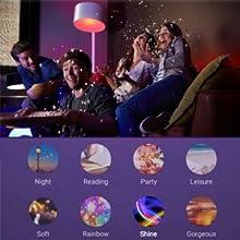 Fernbedienung via APP eecoo Smart WiFi Lampen LED Smart WLAN Gl/ühbirnen 9W RGBW Dimmbar Mehrfarbige Gl/ühbirnen Kompatibel Google Home Alexa B22