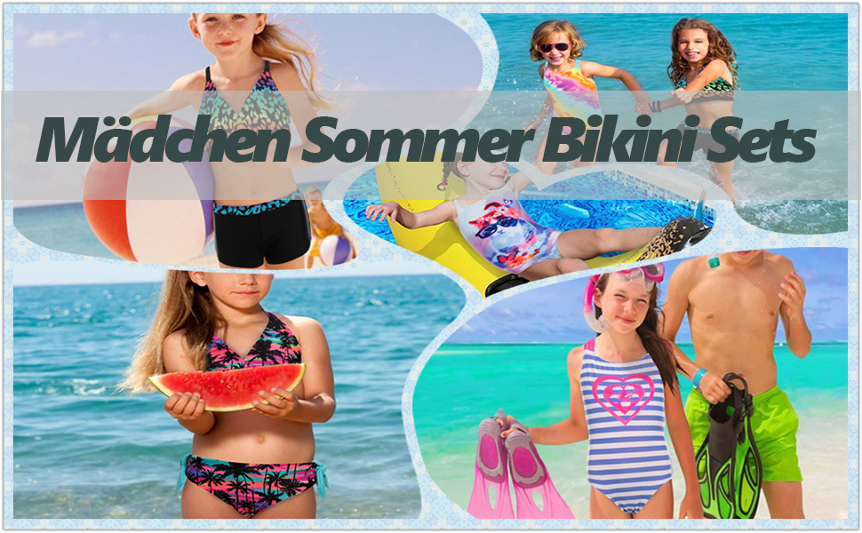Mädchen Bademode Badeanzug Bikini Satz Badeanzug Alter 6-14 Jahre