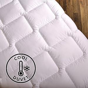Wendre leichte Sommerdecke für die warme Jahreszeit Bettdecke - Atmungsaktiv & Pflegeleicht