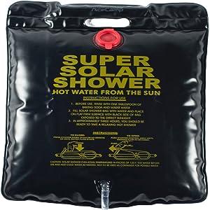Schlauch und Klemme AceCamp Solar Campingdusche 20 Liter Reisedusche mit Duschkopf Outdoordusche Gartendusche