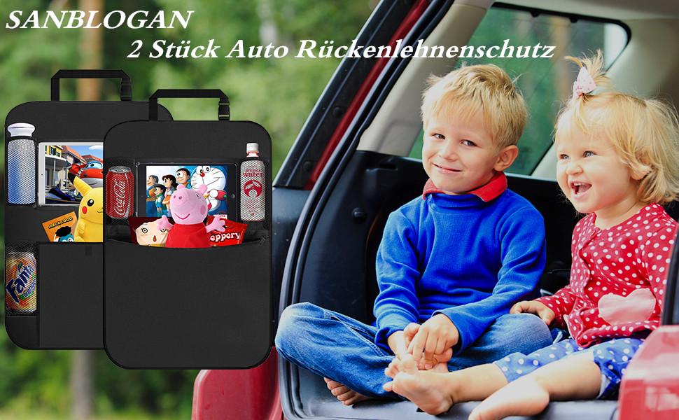 2 Autoorganizer Sitzschoner Rückenlehnenschutz Autositz Schutz 4,45 EUR//Stück