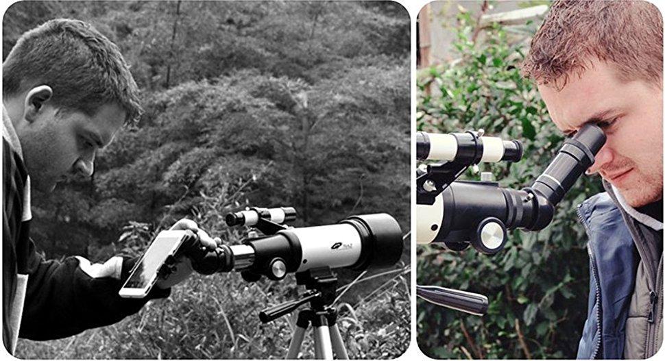 Teleskop 70mm aperture travelscope 400mm az mount: amazon.de: kamera