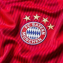 Das Original Fan-Trikot des FC Bayern München ist hochwertig bestickt mit dem FC Bayern Logo