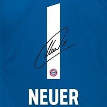 Zusätzlich hat das Trikot die gedruckte Original-Unterschrift von Manuel Neuer auf der Rückseite.