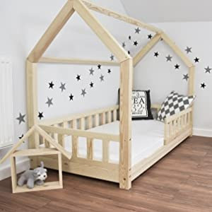 Best For Kids Kinderbett Kinderhaus mit Rausfallschutz