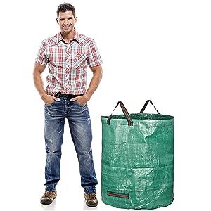 GardenMate 272l garden waste bag gartenabfallsack gartensack model size 2500x2500