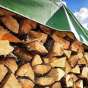 GardenMate zeildoek met houten afdekking