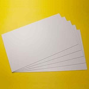 Polystyrol Platten PS Platten, hier 5 Stück, 295mm x 200mm