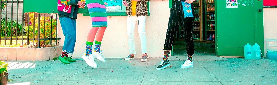 Calcetines divertidos y coloridos para hombres, mujeres y niños.