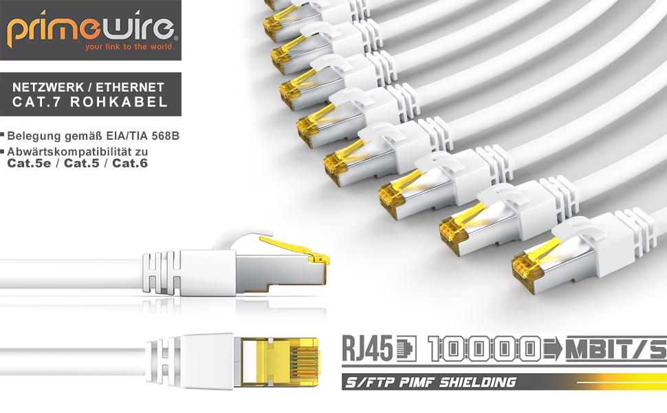 Csl 10m Cat 7 Netzwerkkabel Gigabit Ethernet Lan Elektronik