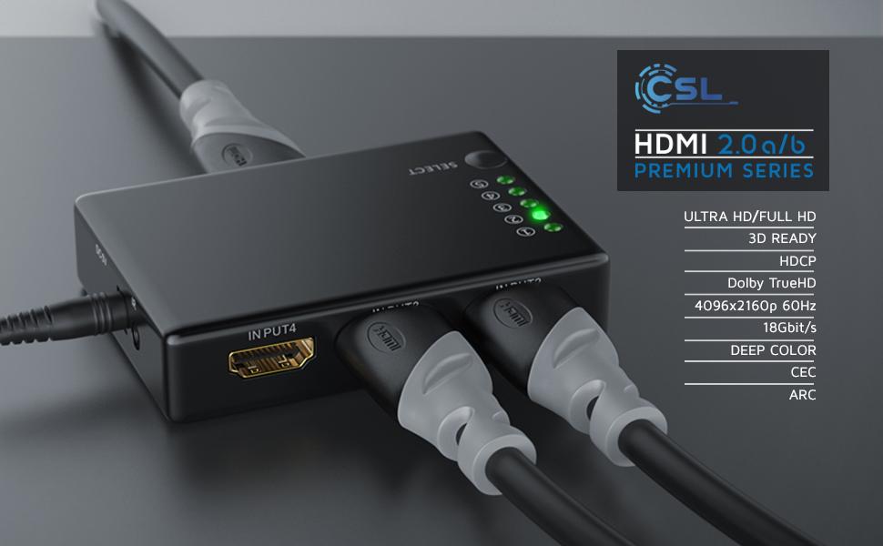CSL-Computer 10m - Ultra HD 4k HDMI Kabel 2.0b 60Hz