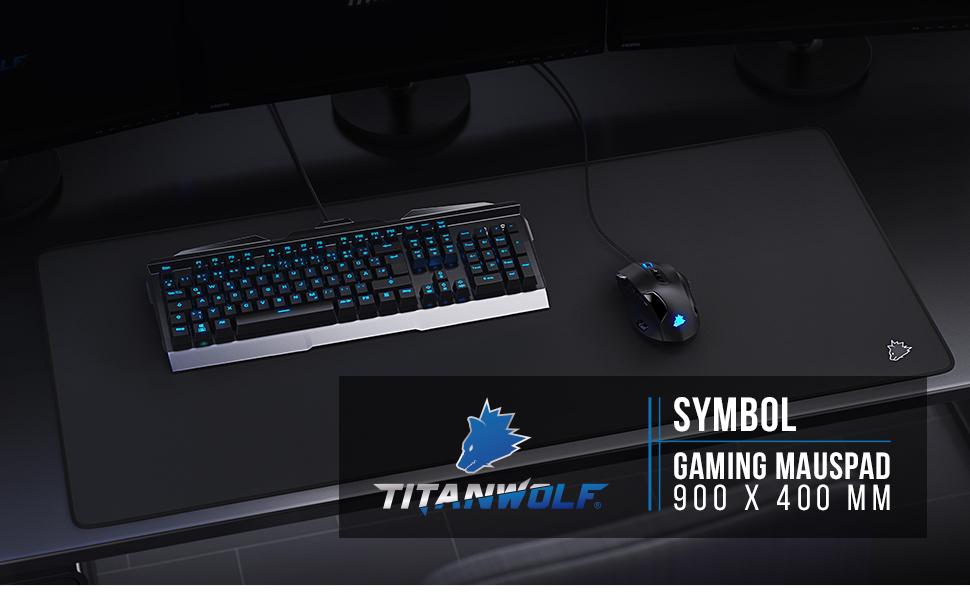Titanwolf muismat Gaming 900x400mm