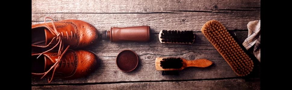 Schuhpflegeprodukt Erklärung Schuhspanner Schuhbürste