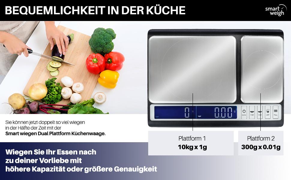Amazon De Smart Weigh Kulinarische Kuchenwaage 10kg X 0 01g