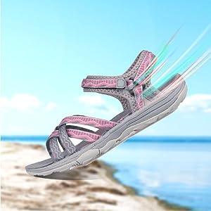 GRITION Frauen Wandern Sandalen, Damen Outdoor Sport Wasser Schuhe ... d7812e0afa