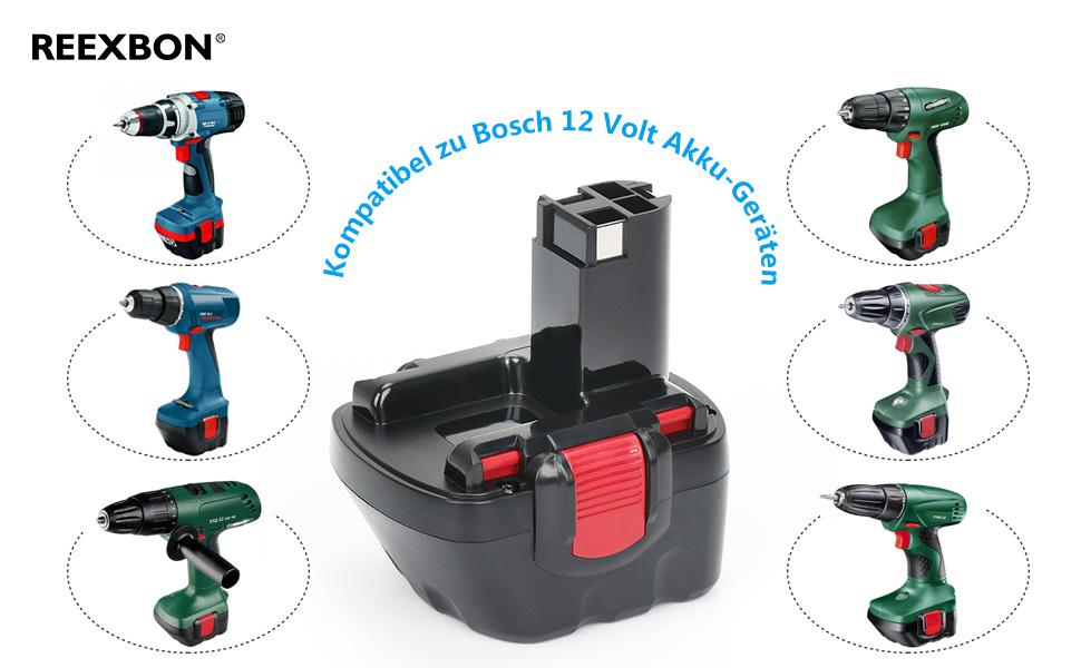 12V 2,0Ah NiCd Akku Für Bosch GSR 12-1 GSR12-1 2607335261 2607335273 BAT045