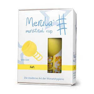Merula Cup sun (amarillo) - Tamaño único copa menstrual de silicona de grado médico