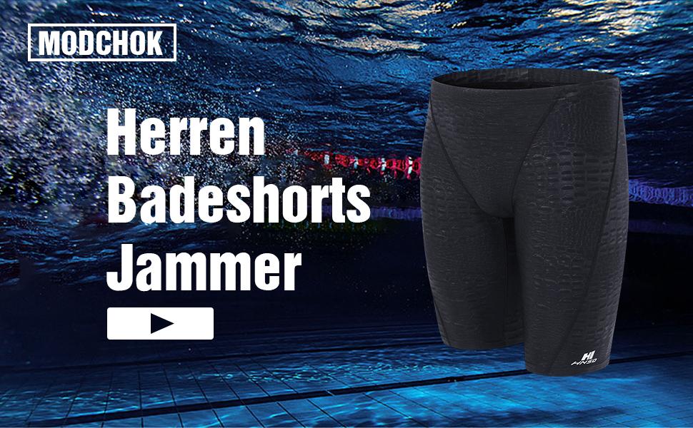 MODCHOK Herren Badeshorts Badehose Schwimmhose Wassersport Kurze Hose Jammer