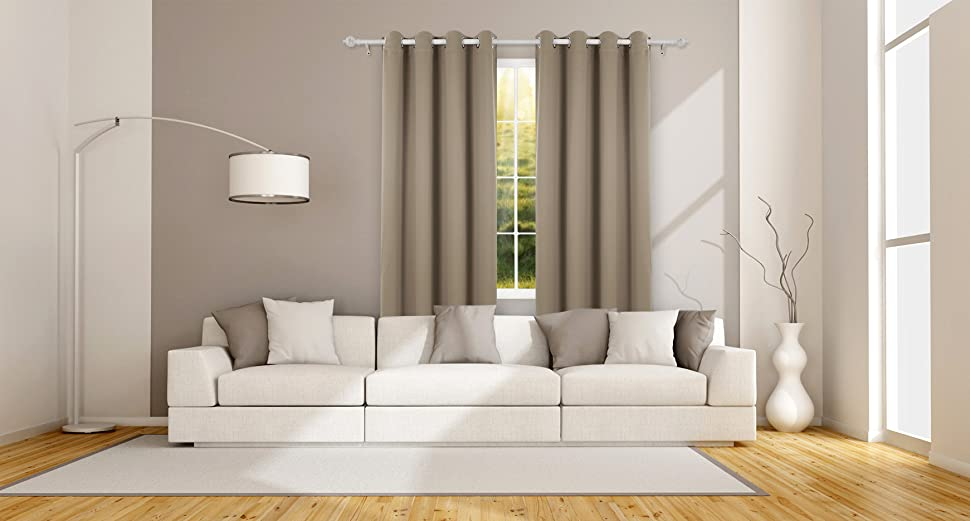 deconovo blickdichte gardinen senvorhang blickdicht vorhang verdunkelung 175x140 cm. Black Bedroom Furniture Sets. Home Design Ideas