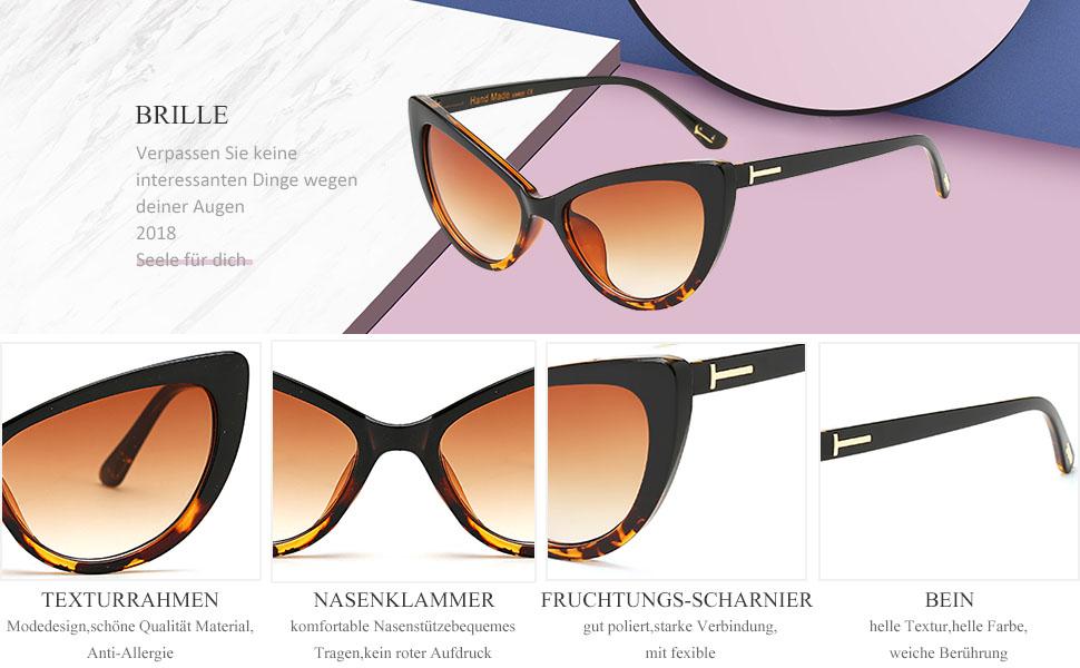 Schatten Klassisch Retro Frau Sonnenbrille Brille Draussen Mode Katzenauge
