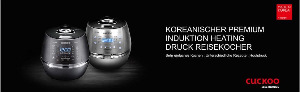 CUCKOO CRP-CHSS1009FN Dampfdruck-Reiskocher aus Edelstahl programmierbar