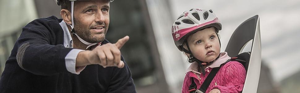 Hamax Kindersitz für Fahrrad in Action