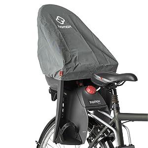 Regnskydd för Hamax cykel barnstol bakom