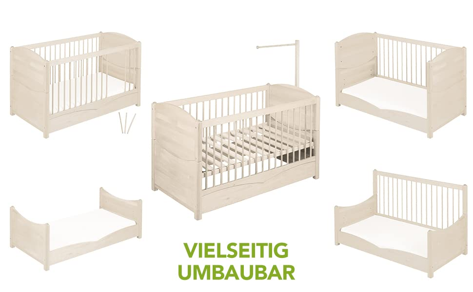 Biokinder Kinderbett Kindersofa Babybett Mit Aufhangung Fur