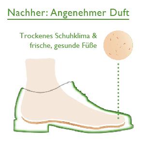 Mit Zederna zu einem trockenen Schuhklima und frischen, gesunden Füßen
