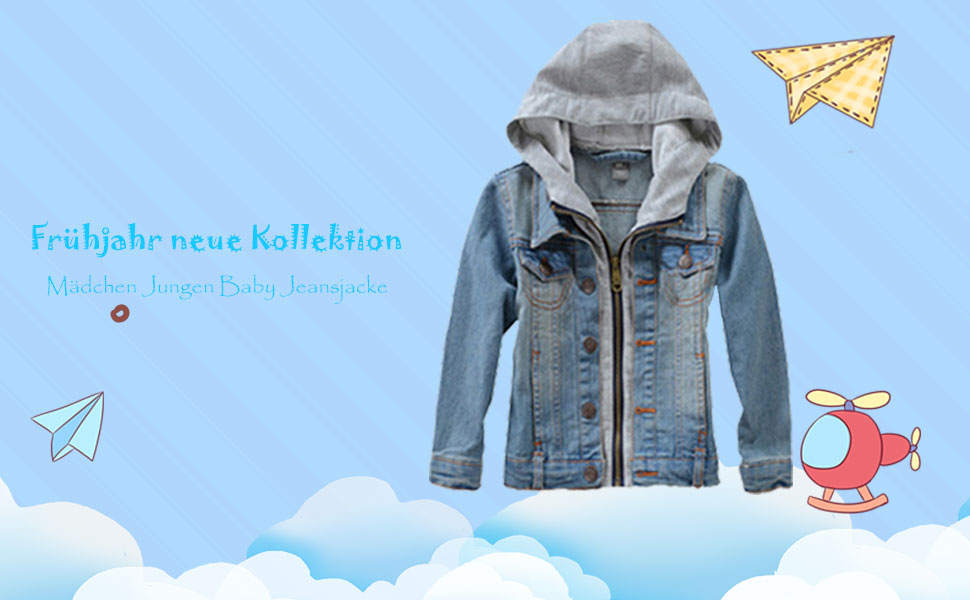 Mallimoda Mädchen Jungen Baby Beiläufig Stilvoll Frühling Herbst Jeans Denim Coats Mantel Kinder Jeansjacke