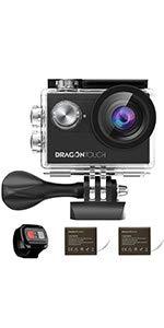 dragon touch 4k vision 4 actionkamera