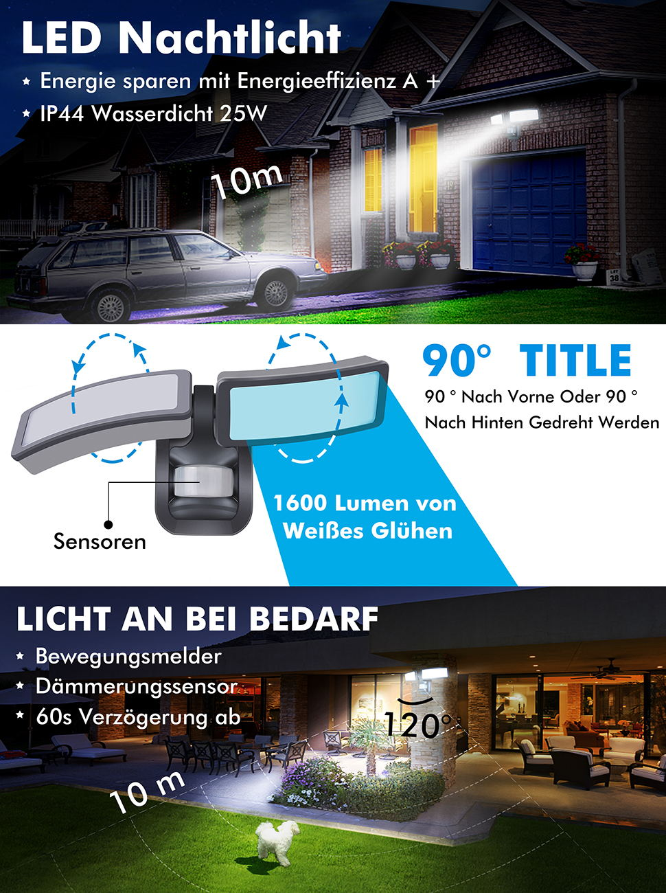 led flutlichtstrahler wandstrahler strahler emotionlite. Black Bedroom Furniture Sets. Home Design Ideas