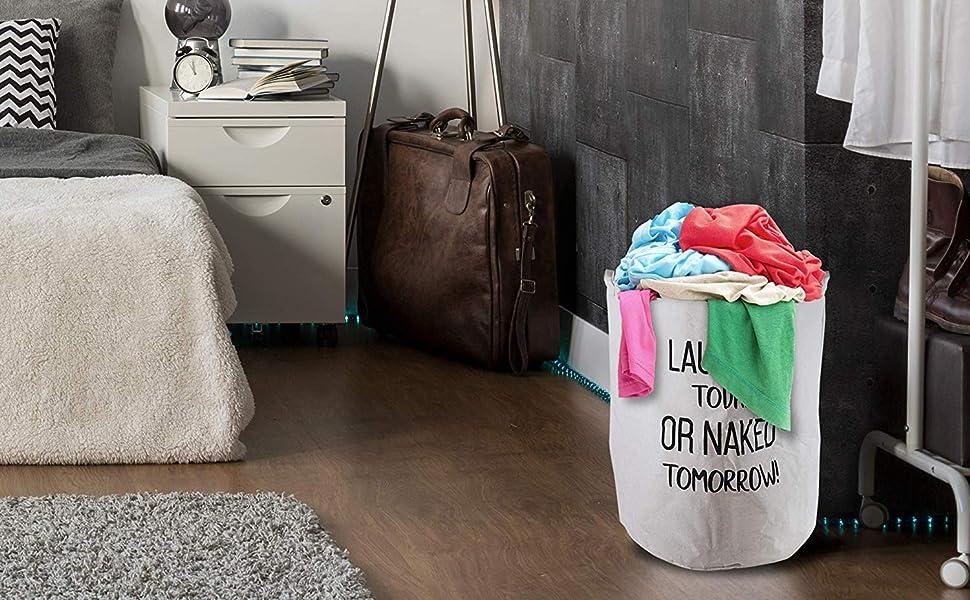 2er Set W/äschesammler spart Zeit beim Sortieren Faltbar 45 x 35 cm Ananas, Verdickt 17,7// Medium Laundry Baskets W/äschek/örbe LessMo 2PCS 17.7 W/äschekorb Sortierer W/äschesack